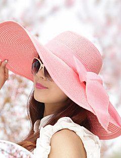 Women Vintage/Casual Summer Straw Floppy Hat