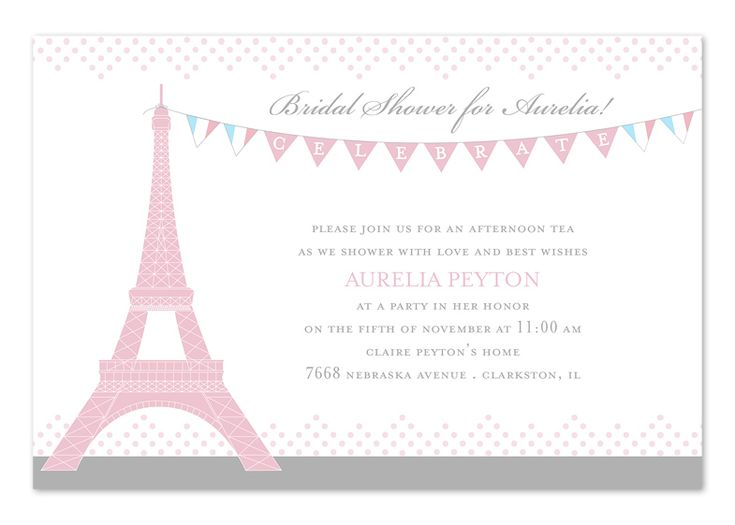 Party in Paris - Bridal Shower Invitations by Invitation Consultants. (IC-RLP-940 )