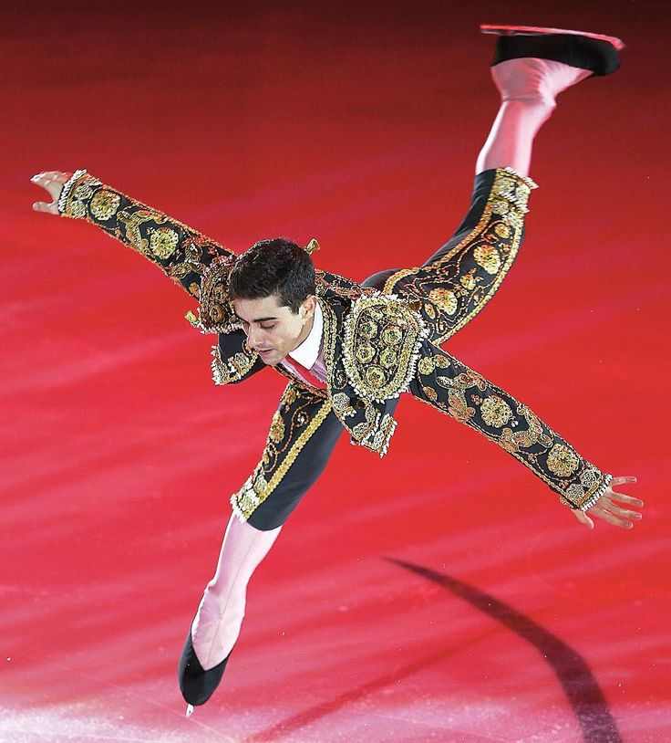 isufigureskatingLet's be honest, few things are better than a Spanish matador.  ••• Javier Fernandez includes part of his short program music, Malagueña, to his exhibition in #GPMoscow