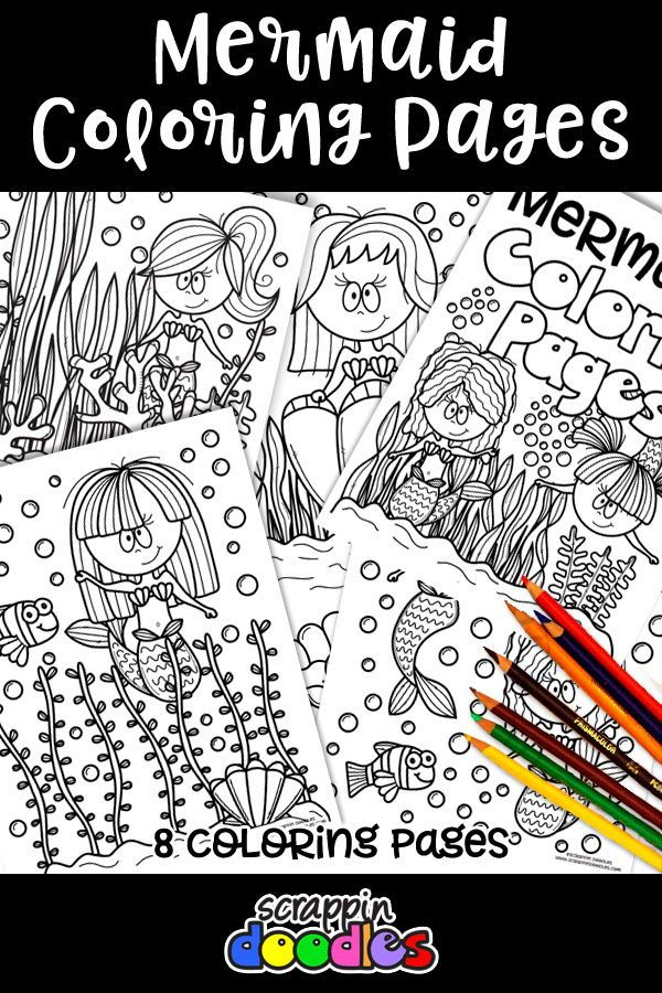 Mermaid Coloring Pages Canadian Tpters Their Posts Products
