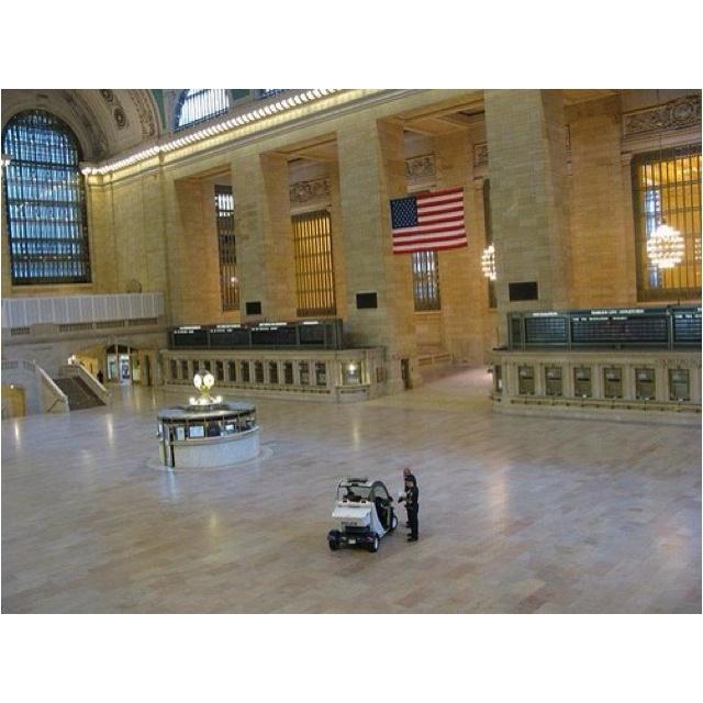 Deserted Grand Central Station