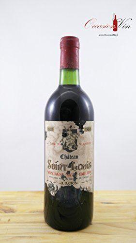 OccasionVin – Vin 1981 Château Saint-Louis EA: Région :Bordeaux Appellation :Montagne-Saint-Emilion Contenance :0.75
