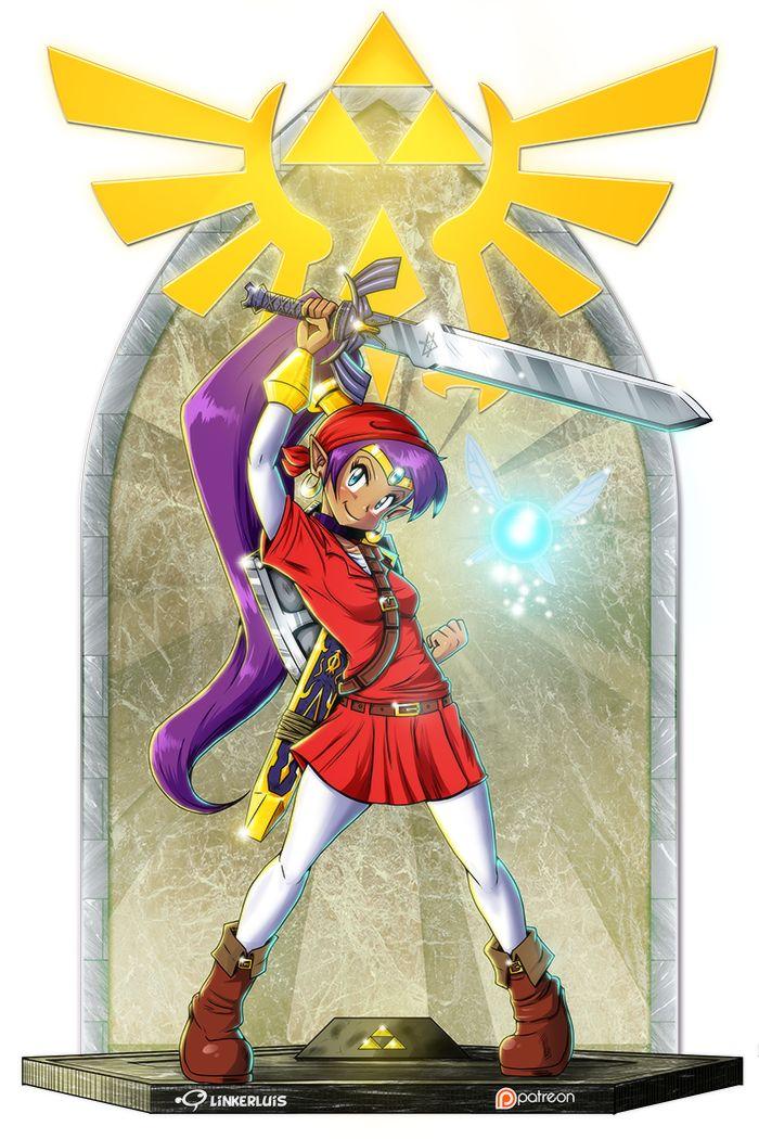 Linker Luis Blog: Half-genie hero of time, Shantae & Link mash-up