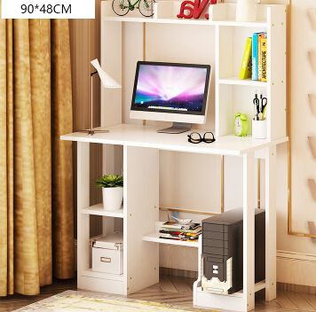 Home computer desk desktop 1.2 meters. With 90 contracted and contemporary long desk bookcase combination table
