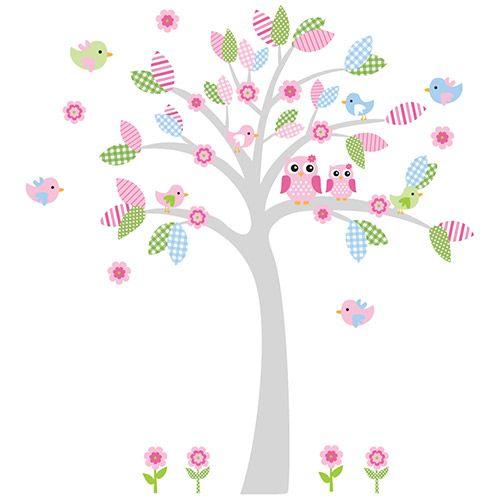 Adesivo de Parede Árvore para Quarto Infantil Candy Tree Menina Stixx Adesivos Criativos Colorido  (216,7x207cm)