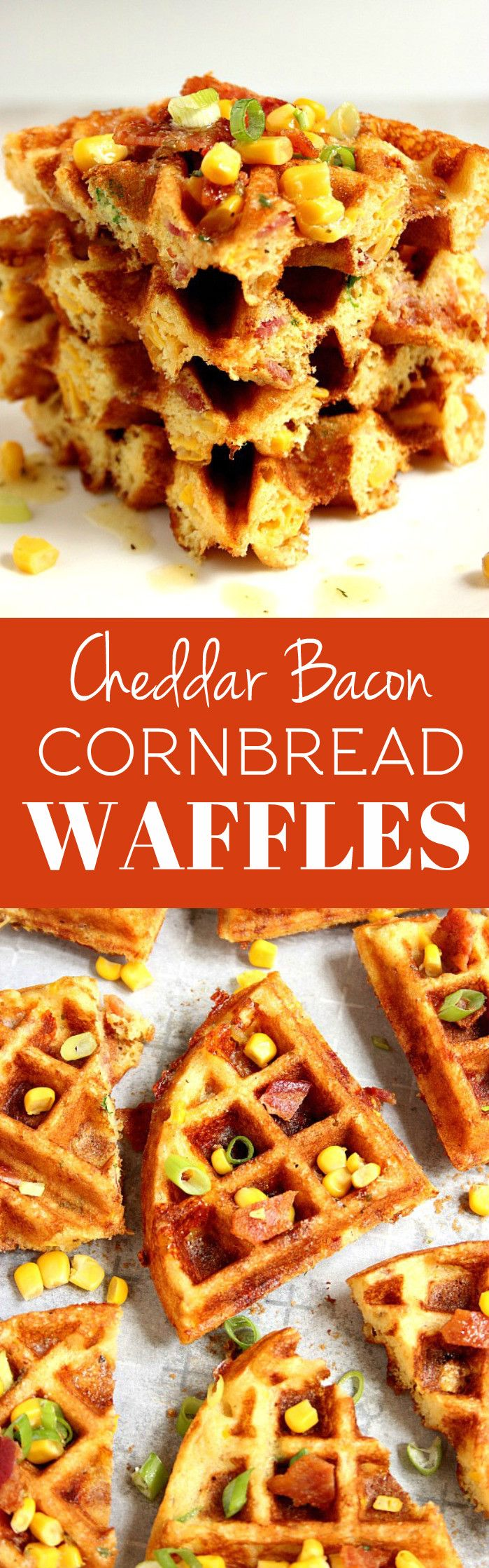 Waffles Recipe - savory take on waffles, filled with crispy bacon ...