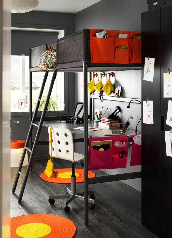les 25 meilleures id es de la cat gorie lit mezzanine ikea sur pinterest mezzanine ikea lit. Black Bedroom Furniture Sets. Home Design Ideas