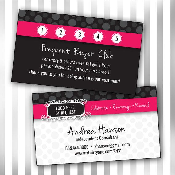 Thirty one business card template double sided for Southworth business card template