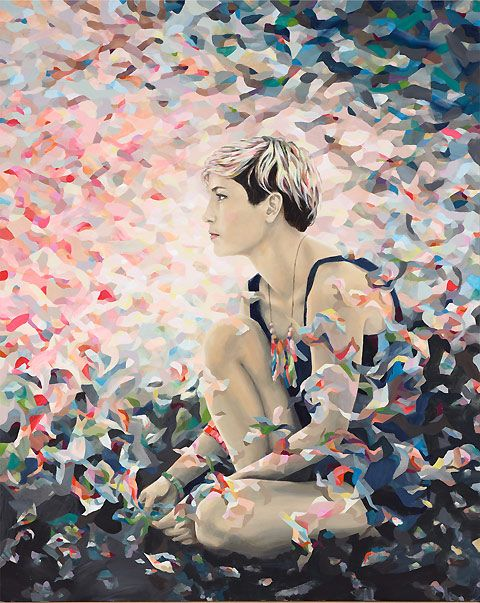Kate Tucker's portrait of Missy Higgins for the Archibald Prize