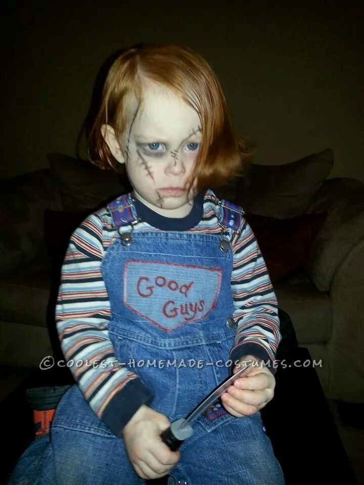 Scary Chuckie Doll Costume for My Ginger Son... Coolest Halloween Costume Contest