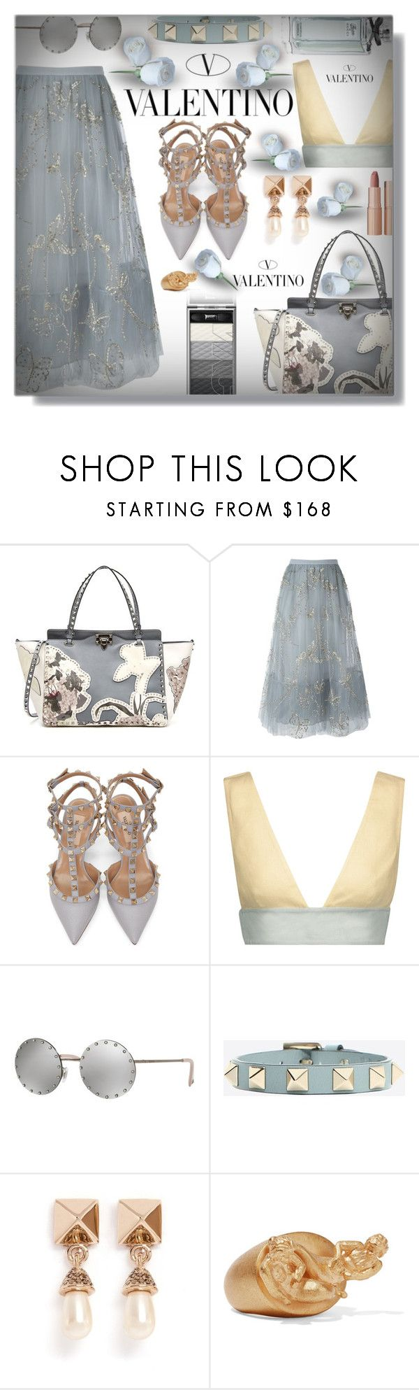 """Valentino Against your Polybody!"" by sarahguo ❤ liked on Polyvore featuring Valentino and Charlotte Tilbury"