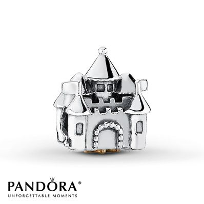 Pandora Charm Castle Pink CZ  Sterling Silver/14K Gold  Jared Jewelers $75.00