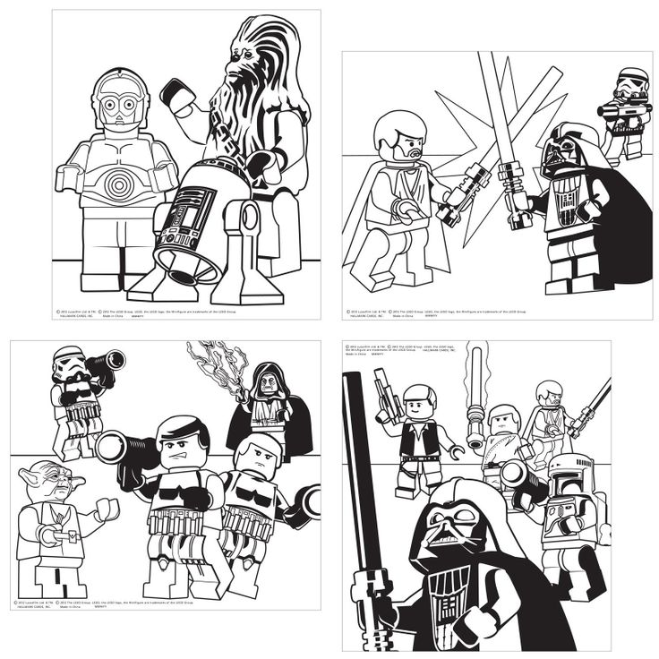 lego star wars color your own posters - Lego Princess Leia Coloring Pages