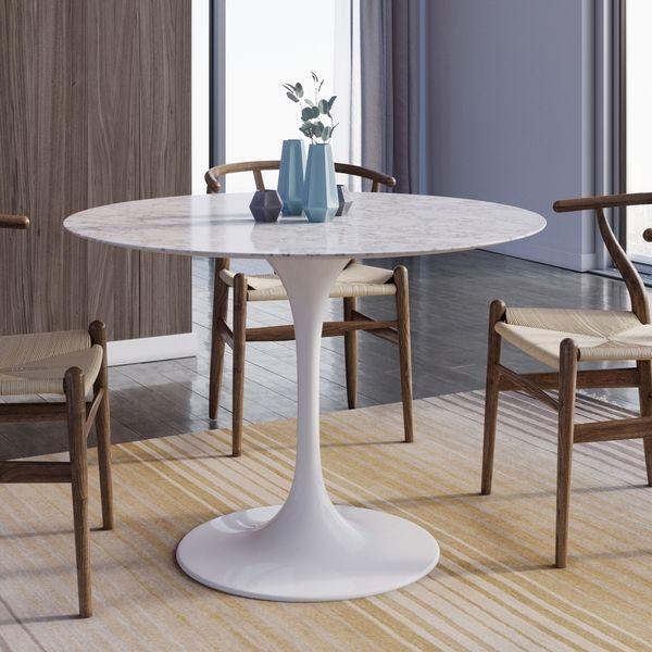 Saarinen Tulip Round Marble Dining