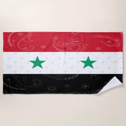 Syria Flag Beach Towel - trendy gifts cool gift ideas customize
