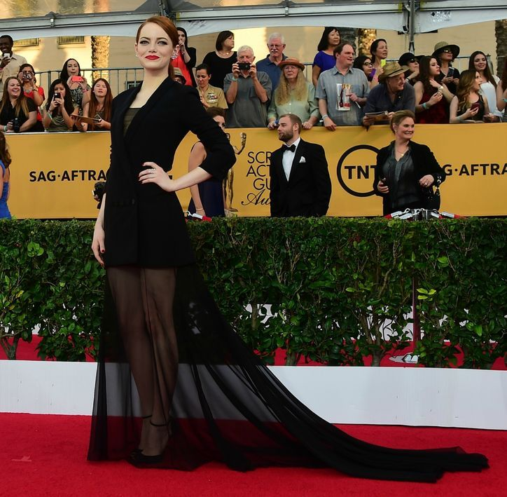 Emma Stone in Dior Haute Couture at the SAG Awards