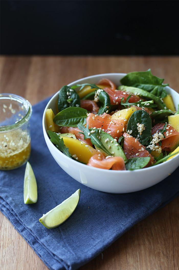 S P O O N // Salat med røkt laks