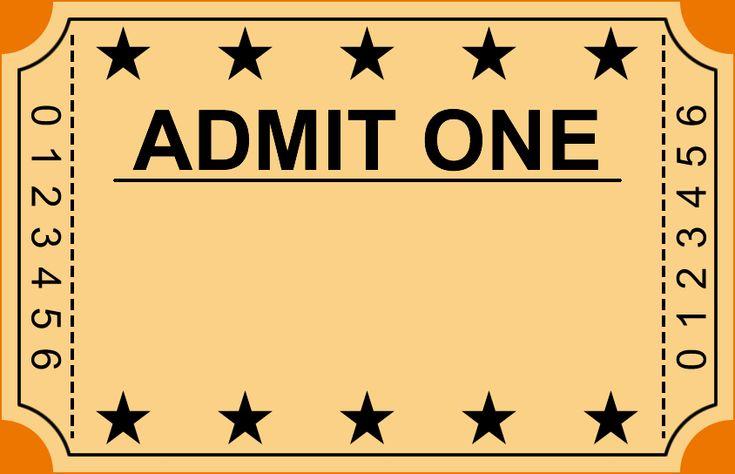 Blank Movie Ticket Template | New Calendar Template Site