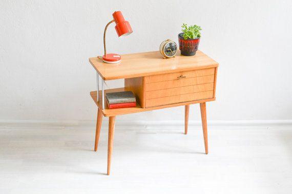 Vintage dressoir 60s console tafel kast telefoon tabel