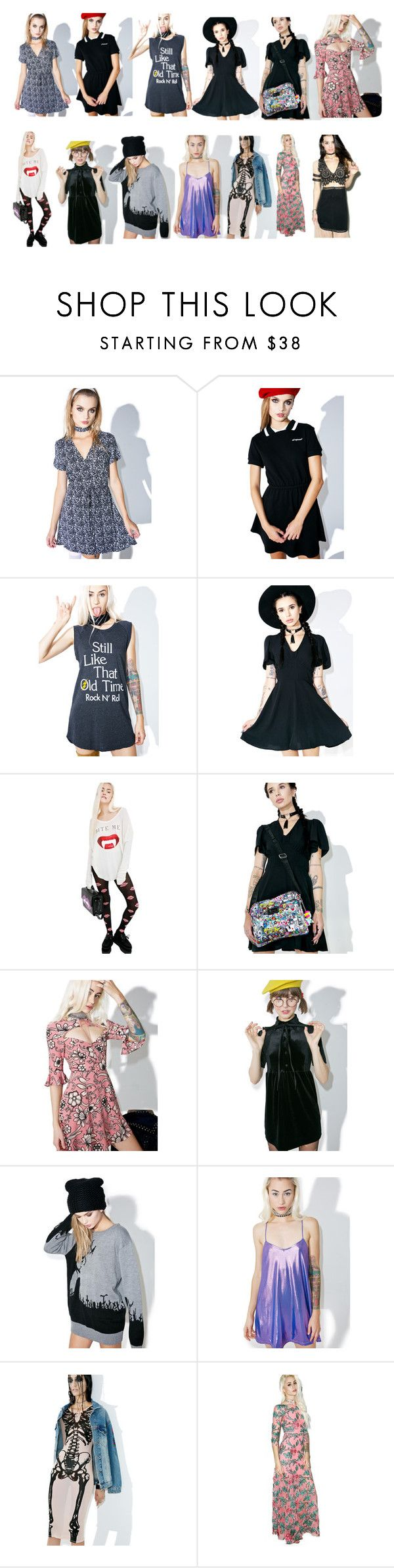 """""""Untitled #104"""" by funghoul39 ❤ liked on Polyvore featuring Valfré, Junk Food Clothing, Motel, Wildfox, Tokidoki, For Love & Lemons, Current Mood and Iron Fist"""