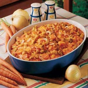Carrot Casserole  I made this for Mom and Dad this week  and we all loved it. I am not even a big   cooked carrott fan.