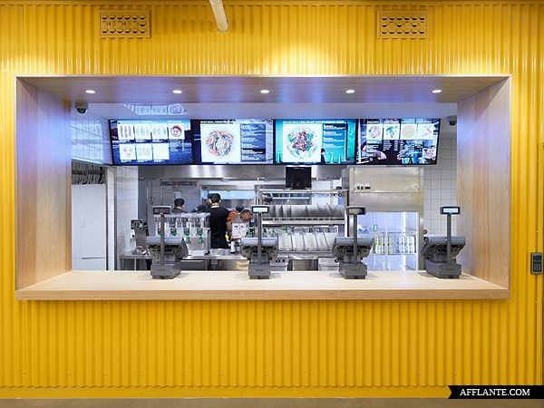 25 Best Modern Fast Food Restaurant Interior Decor Images On Pinterest Fast Food Restaurant