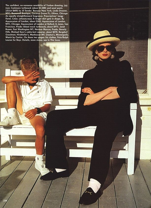 Maine Attraction I US Vogue I November 1991 I Model: Kristen McMenamy I Photographer: Arthur Elgort I Editor: Jenny Capitain.