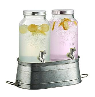 Artland® Masonware Farmhouse Beverage Dispenser Set with Stand