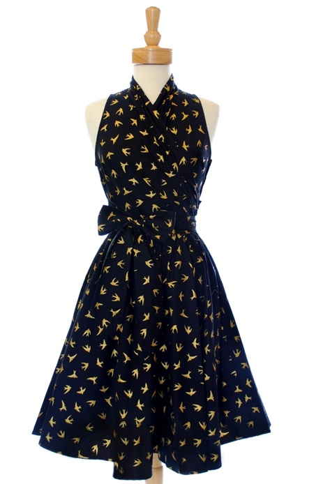 !                                      !                                   1  1950s Vintage Pin Up Dress