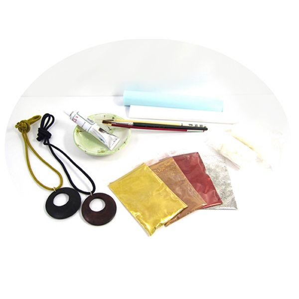 Hira Makie Kit with Low Allergenic Urushi Lacquer will shine your objects!