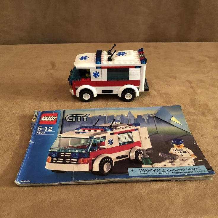 lego city ambulance 7890 instructions