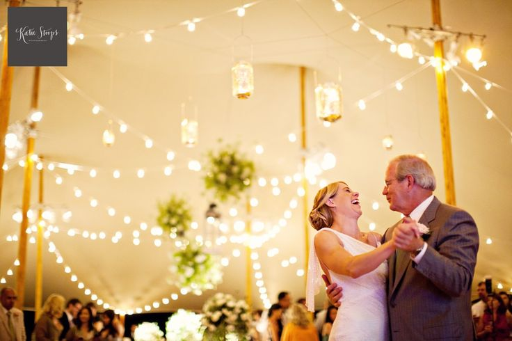 at home backyard wedding ceremony reception Katie Stoops Photography Bellwether Events Skyline Tents string lights