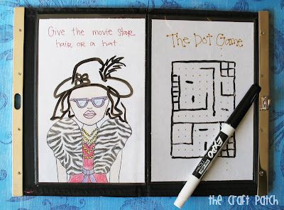The Craft Patch: Photo Clutch Dry Erase Quiet Book