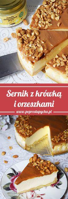 Mam dla Was mercedesa wśród serników!! <3 Sernik z krówką i orzeszkami – palce lizać! :)  #poprostupycha #sernik #przepis #jedzenie