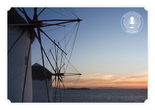 "Our Concierge recommends:  ""Visit The Windmills"" one of the most important landmarks of Mykonos. Perfect place to watch the sunset and capture the best pictures of the island #santamarina #mykonos #windmills"