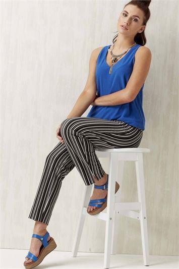 Monochrome Stripe Hareem Trousers