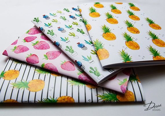 A Set of 4 Notebook with 40 blank pages by DessiDesigns on Etsy