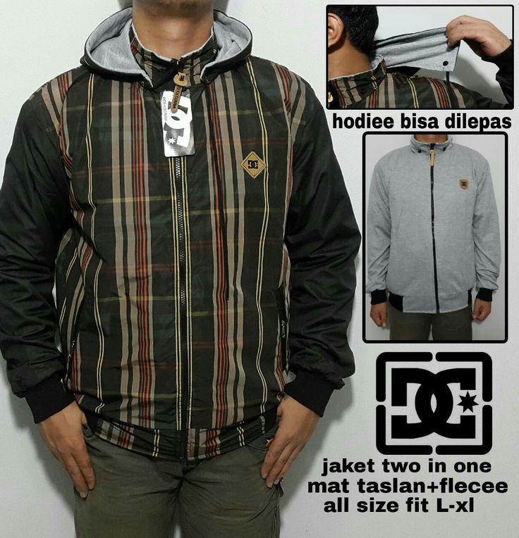 Jaket two in one Bahan mat taslan+flecee All size fit L-XL  WA:082386347597