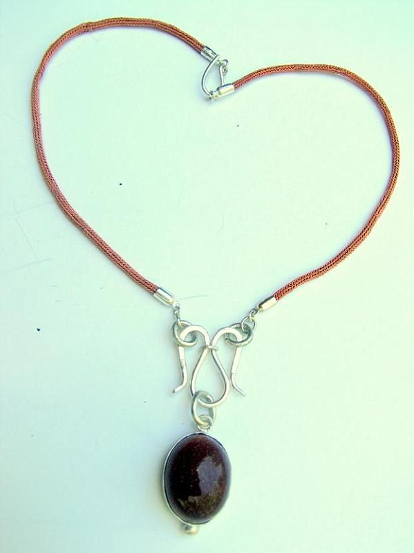 Solar stone, 925 sterling silver necklace is made by Berrin Duma.