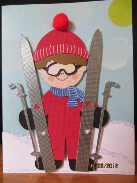 Cricut everyday paper dolls boy skier handmade cards for Smow gutschein