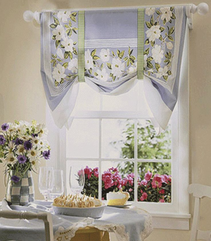 To Quickly And Easily Spice Up Your Modern Kitchen Curtains All You Need Is Ribbon