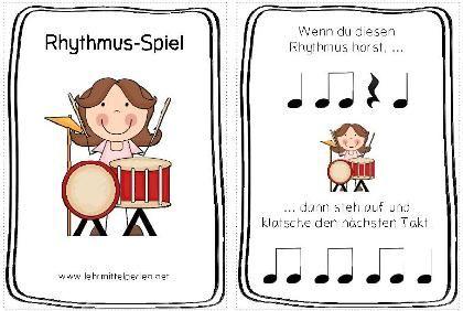 Rhythmusspiel für die ganze Klasse zum Üben der Noten- und Pausenwerte.