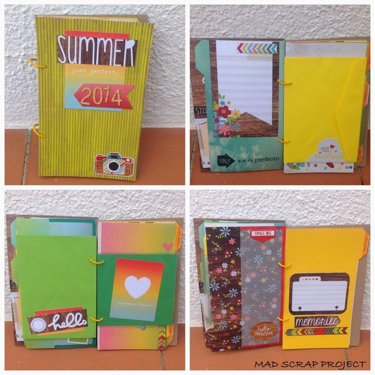 Simple Stories travel journal #scrapbooking #simplestories #madscraproject #MSP #minialbum