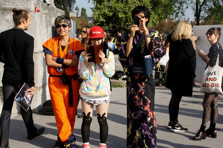 Loving their mixed orient style. Paris Fashion Week Streetstyle, by Lois Spencer-Tracey of Bunnipunch