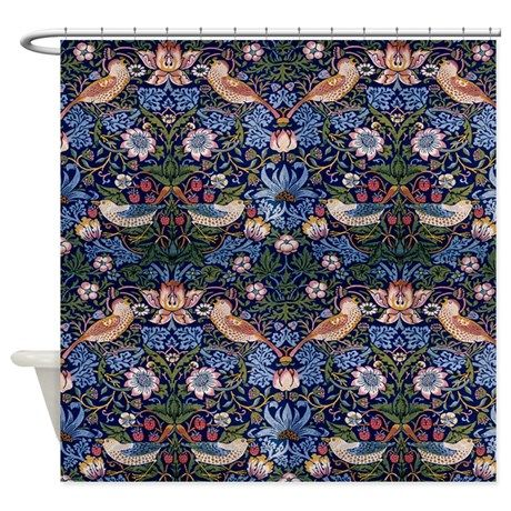 William Morris Strawberry Thief Shower Curtain on CafePress.com