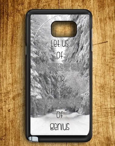 Winter Quotes Samsung Galaxy Note 5 Case