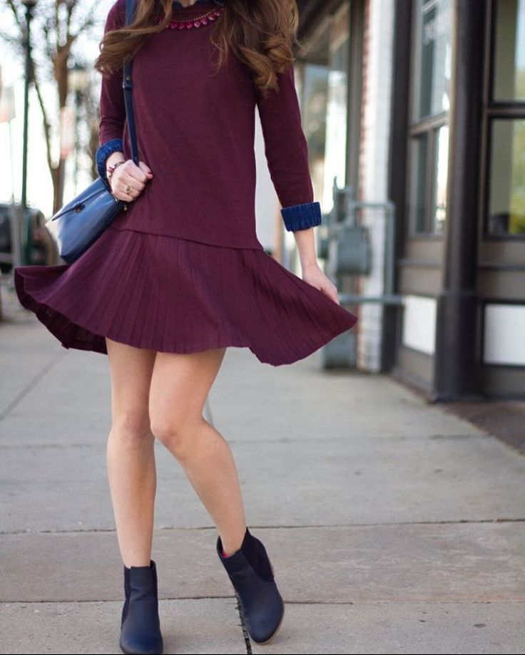 Twirling around in maroon