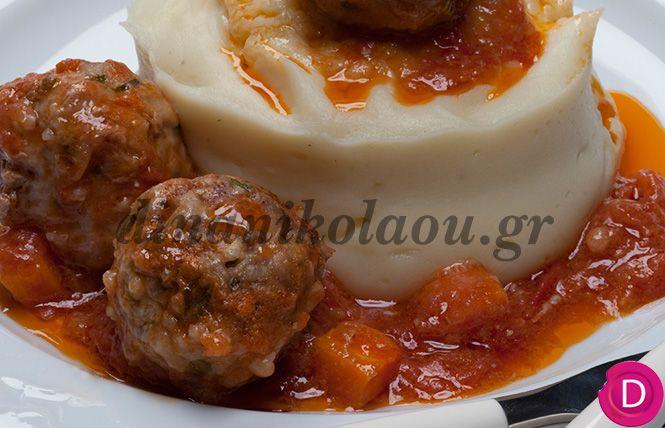 Γιουβαρλάκια κοκκινιστά με καρότα | Dina Nikolaou