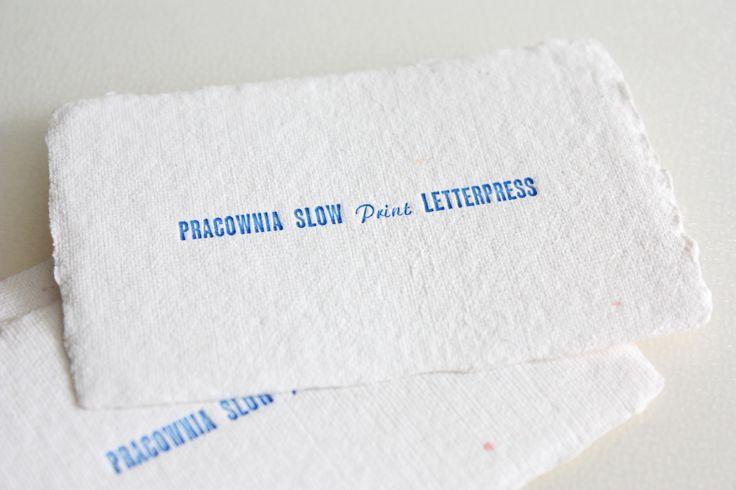 slow print #letterpress #slowprint #businesscard #cottonpaper
