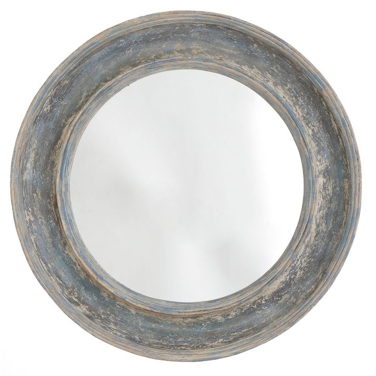Round Seaside Mirror